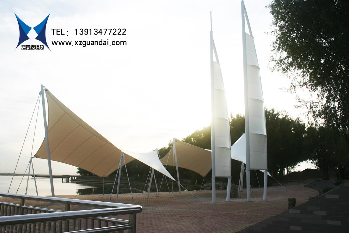 大安市文化广场膜结构风帆建筑2